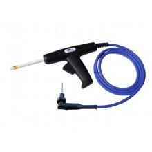HV-Prüfpistole HTP06CW-02 mit Winkelstecker HVP06CW, HV-Kabel 2-polig, blau (D = 9,6 mm), Länge 2 m