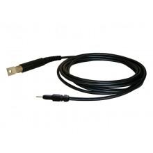 HV-Kabel HVC50KS-B mit solidem Kabelschuh und 4 mm Lamellenstecker