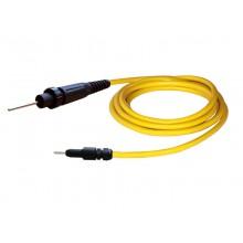 HV-Kabel HVC06N-B, mit HV-Stecker HVP06N und 4 mm Lamellenstecker