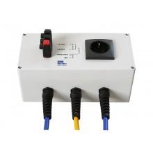 Kontaktierungseinheit KE3/1SK, mit 1 Schukosteckdose und 3 Schnelldruckklemmen