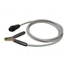 PE-Prüfleitung PEP4-BKL02 mit 4-poligem Stecker und Batterieklemme, Länge 2 m