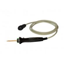PE-Prüfspitze P36MRC zur Gehäusekontaktierung, Kabel, Stecker, Starttaste und Ergebnis-LED