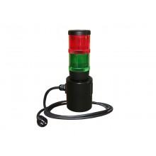 Signalleuchte WK36ST, für Ständer, Signalleuchte rot / grün nach VDE 0104 / EN 50191