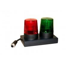 Signalleuchte WK400, Tischversion mit LEDs, Signalleuchte rot / grün nach VDE 0104 / EN 50191