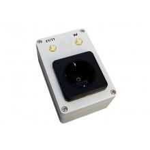 Testadapter TA-HSTPE, mit Schukosteckdose und Prüfnippel für L/N und PE