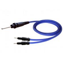 HV-Kabel HVC06CB-B02, mit HV-Stecker HVP06C und 2 x 4 mm Lamellenstecker, Länge 2 m