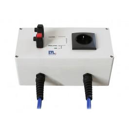 Kontaktierungseinheit KEM2/1SK-02 mit 1 Schukosteckdose und 2 Schnelldruckklemmen